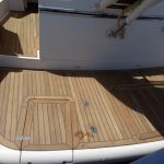 Sustitucion de cubierta de teka en barco